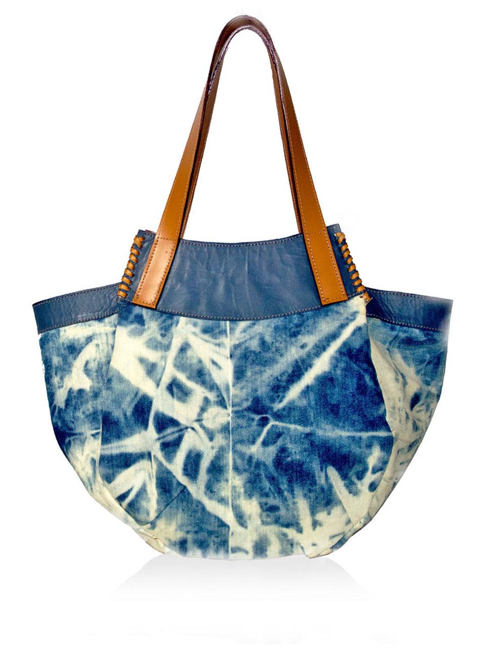ODELINA Denim/Caramel Leather
