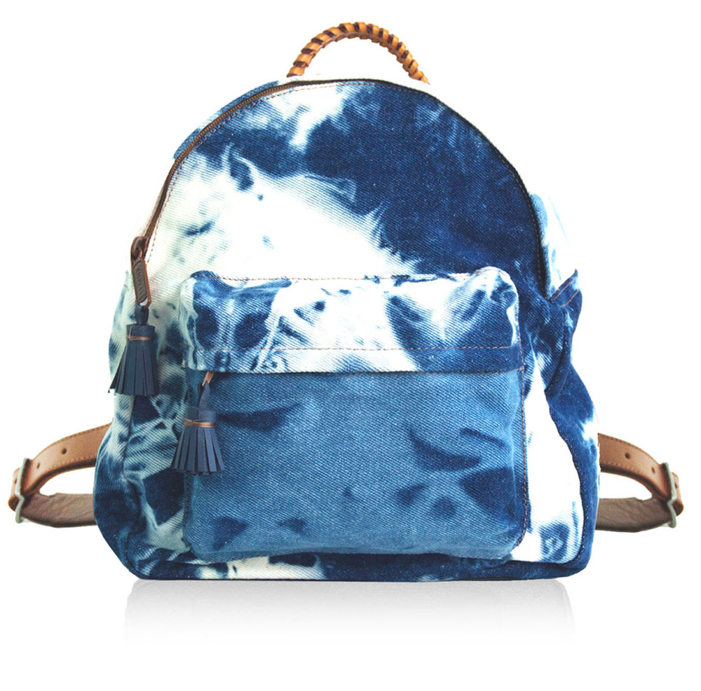 FLEUR Denim/leather backpack