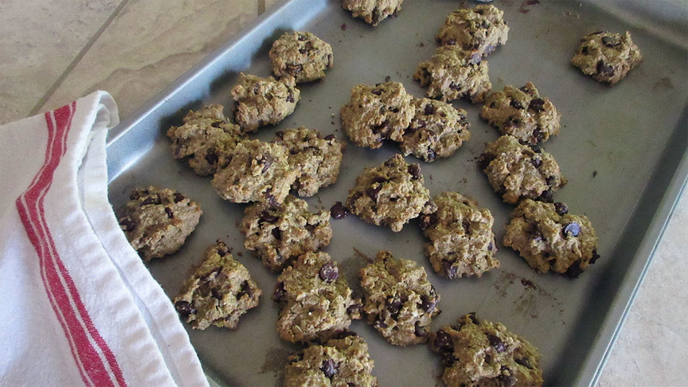 chocolate chip cookies on tray cooked with red towel.jpg
