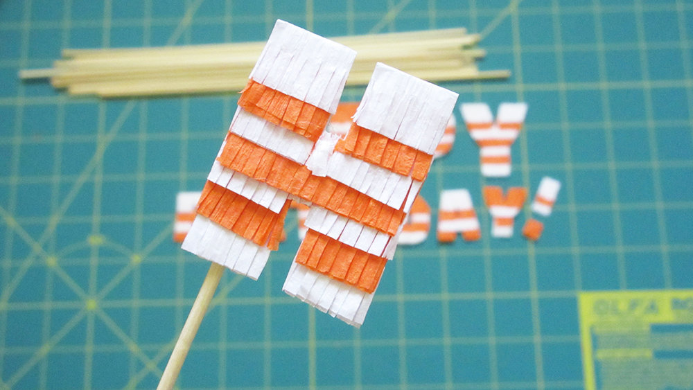 Finished letter H for DIY Pinata Letters Cake Topper Tutorial