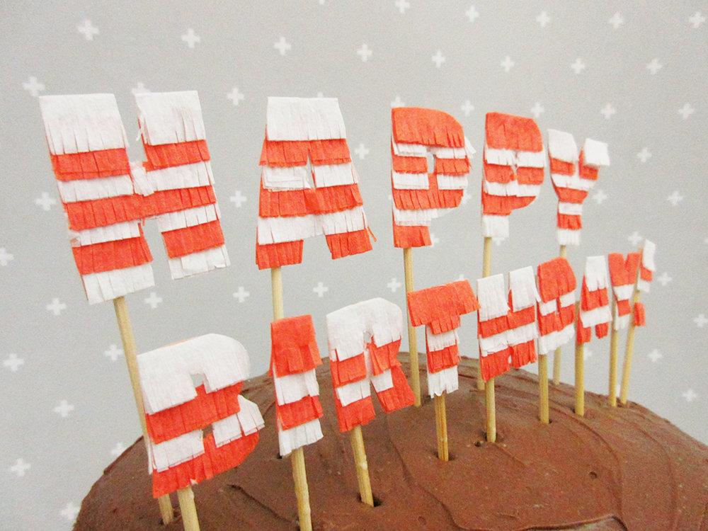 DIY Pinata Letters Cake Topper Tutorial