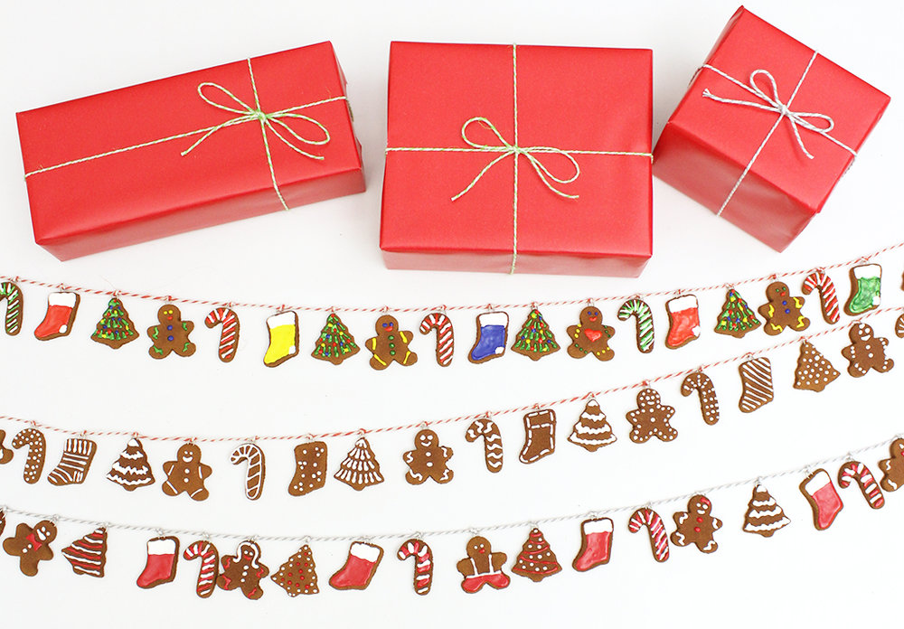 Mini Gingerbread Cookie Garlands