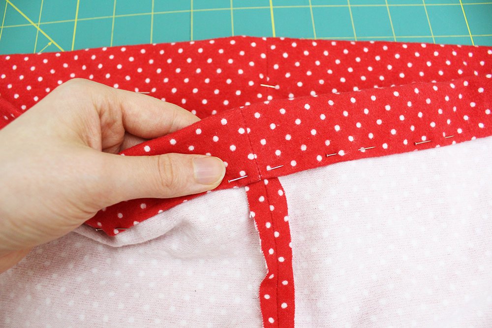 Making an elastic casing for DIY Pajama Bottoms
