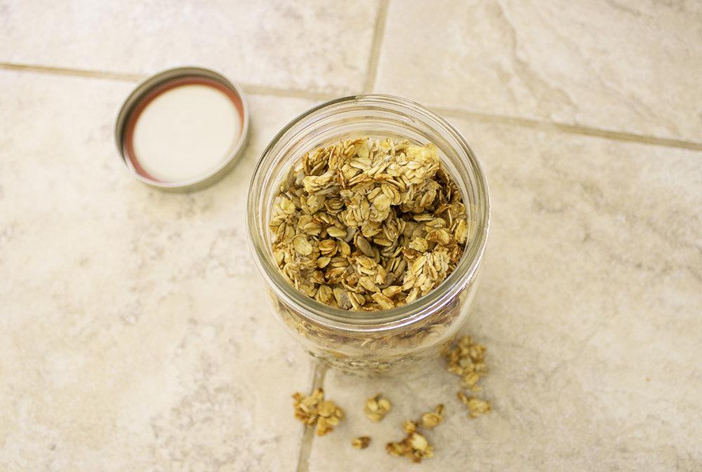 Healthy Vegan Crunchy Granola