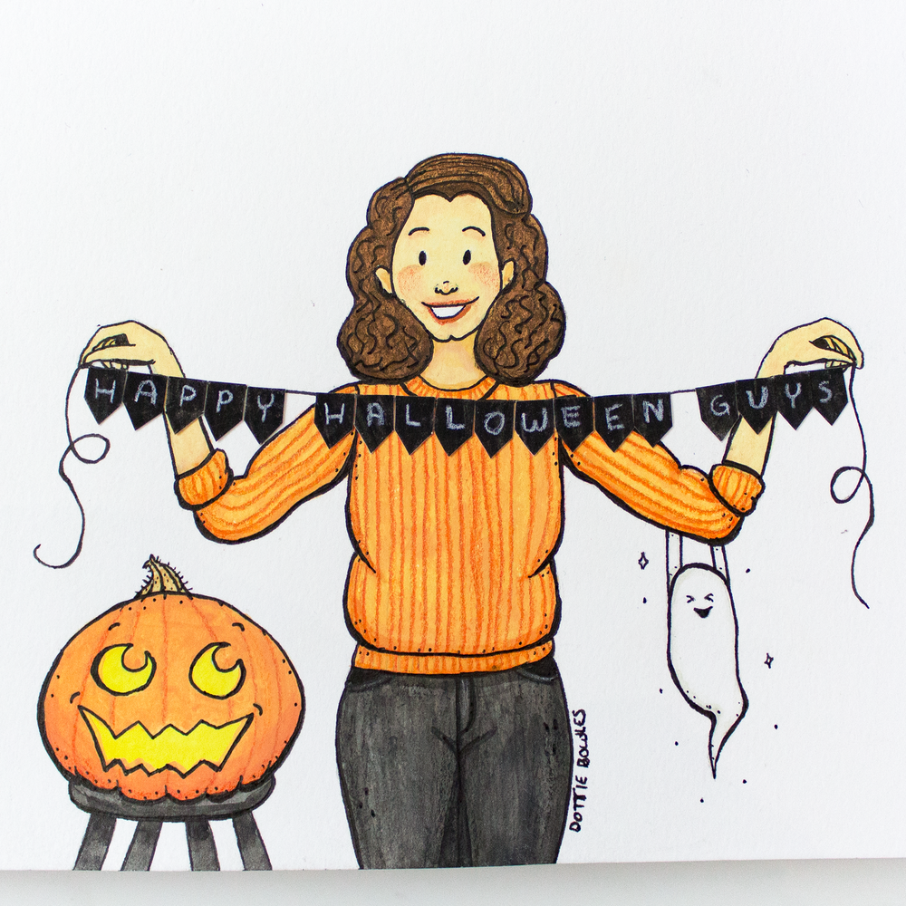 Inktober 2018 Day 31 Happy Halloween Guys by Dottie Bowles