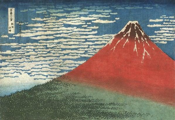 Hokusai Red Fuji
