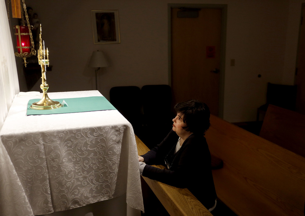 Carol LeCompte, 66, of Kennewick, is the coordinator of the perpetual adoration devotion and ministry program at St. Joseph Catholic Church in Kennewick. About 200 volunteers take turns praying and worshipping God in the chapel around the clock.