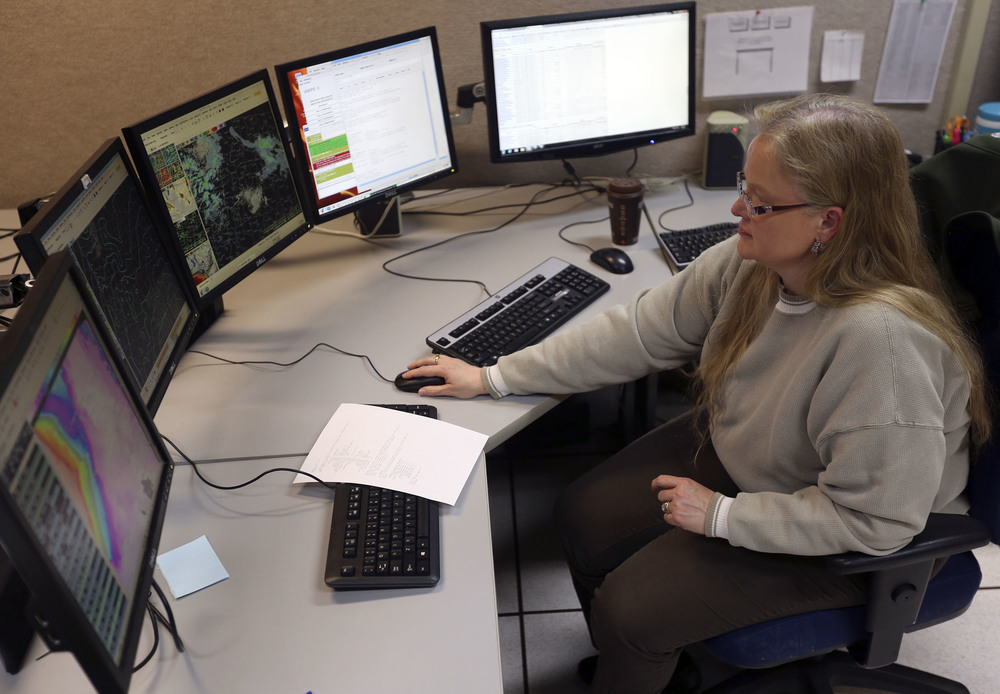 Mary Wister has been watching weather since she was a kid. A meteorologist with the National Weather Service in Pendleton for over two decades she uses advanced technology to keep an eye on the weather and inform the public, even overnight.