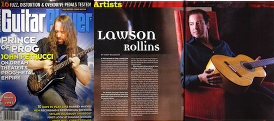 GUITAR PLAYER MAGAZINE Interview  here .
