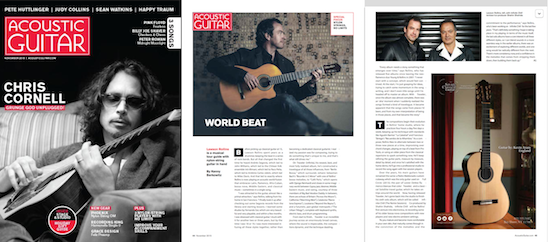 ACOUSTIC GUITAR MAGAZINE interview  here.