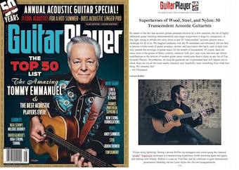 Guitar Player Magazine Top 50 List