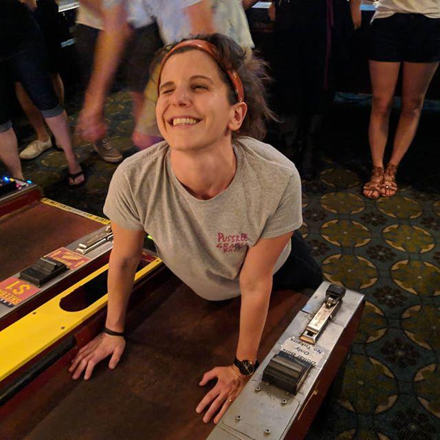 Oh hey, @danilee11 . Ask Ashley how she rolled tonight ;) #brewskeeballla #brewskeeball
