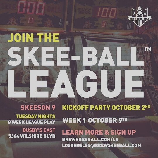 Skeeson 9 is just around the corner! Sign up now at Brewskeeball.com/la