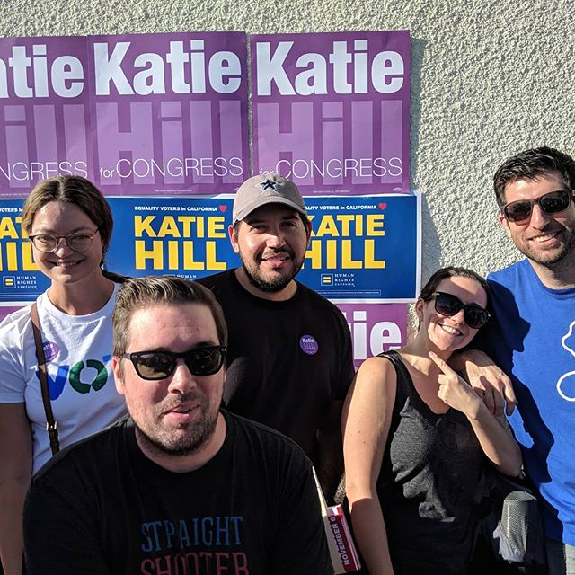 Check out our LA Brewskee-Ballers getting out the vote! To everyone in the #brewskeeball community: let's all be voters this Tuesday 🇺🇸 #brewskeeballla #votesaveamerica #katiehill #hillyes