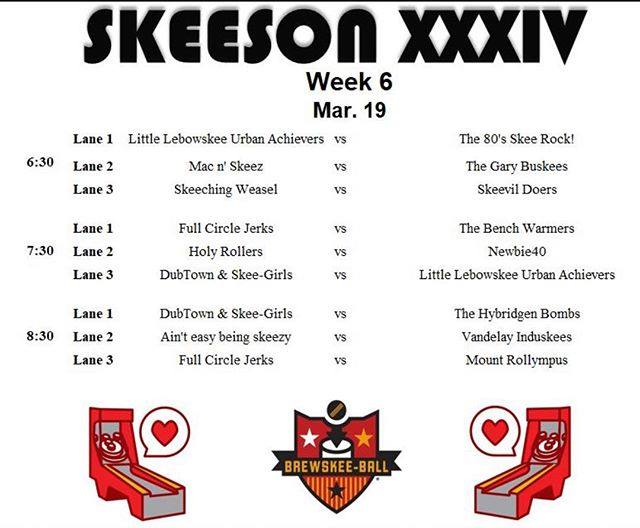 Week 6. Tomorrow. . . . . . . #brewskeeball #wilmingtonnc #skeeball #fortheloveofthelane #ibelieveinyourself