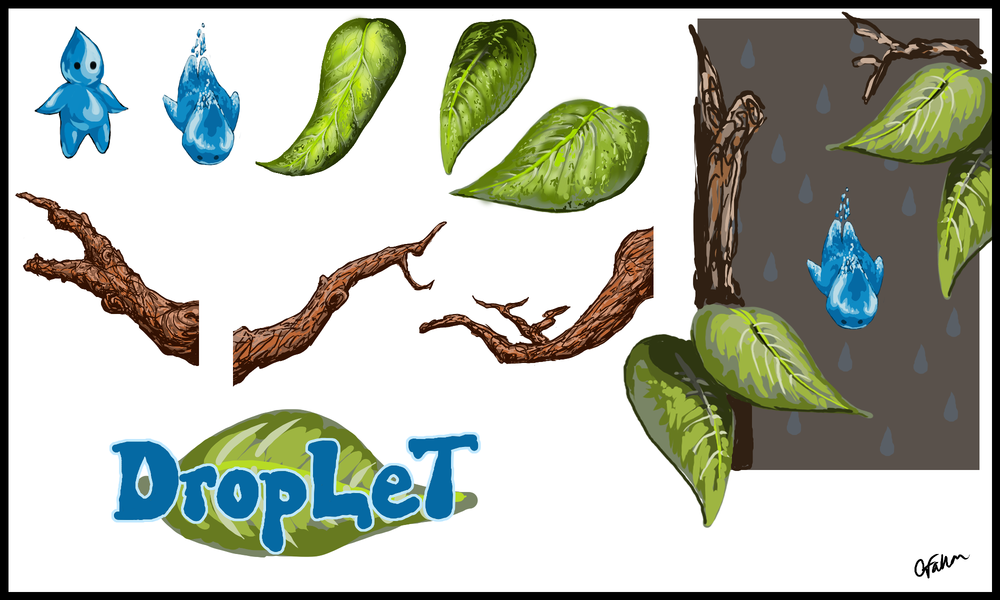 Droplet   Art assets for a mobile game which was never completed.