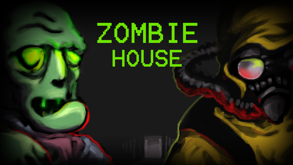 Zombie House   Art for a game project by Dan Gomez for one of his classes. Another one I had to do very quickly, but it was a lot of fun.