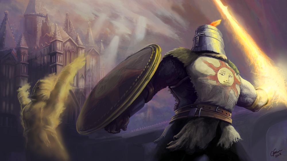 Warriors of Sunlight   Another Dark Souls related art. This time depicting Solaire in a splash art style.