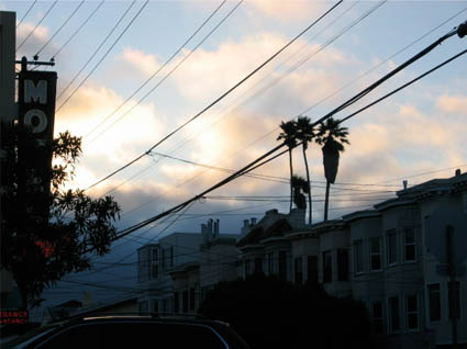 sunset in cow hollow