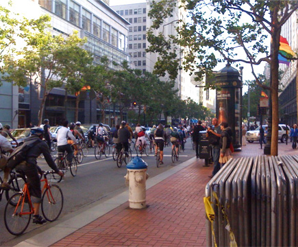 Critical Mass, downtown SF