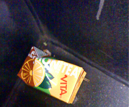 discarded Vita container on the 45 line