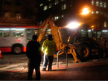 road work, market st.