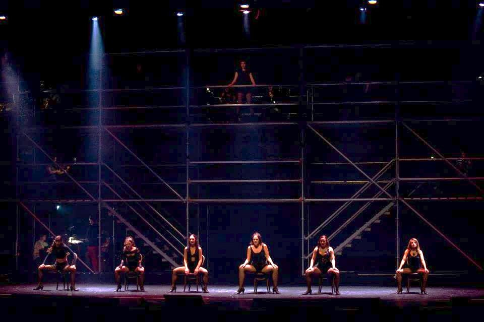 Velma Kelly with the Six Merry Murderesses (pictured center)
