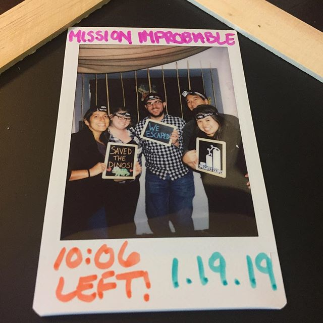 The dinosaurs were saved thanks to this group and their clever thinking. Despite coming from the future, this team felt right at home in the prehistoric era. Thanks for saving the dinosaurs and playing at Sprightly! #sprightlyescapes #denver #escaperoom