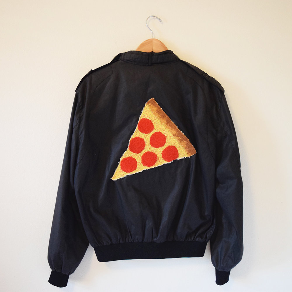 Pizza Jacket (Black) - Back.jpg