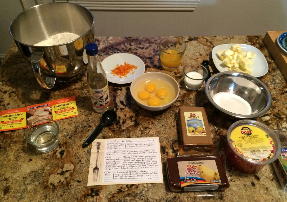 Mise en place: measuring out the ingredients beforehand allows you to instantly reach for anything you'll need.
