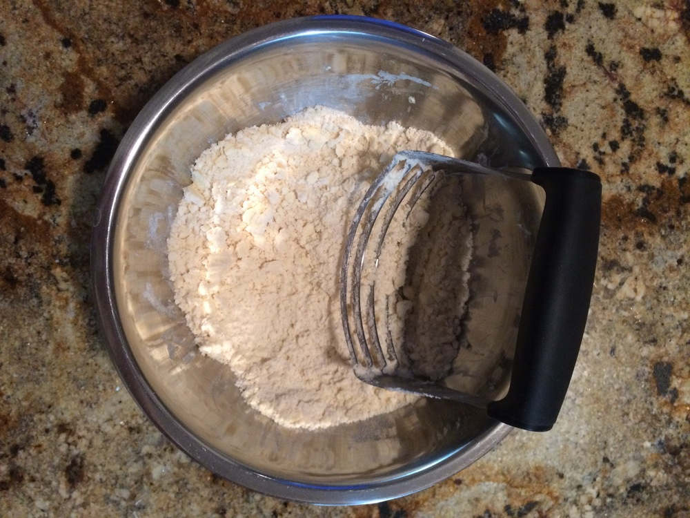A good 5 minutes should leave you with this mixture ready for the next steps.