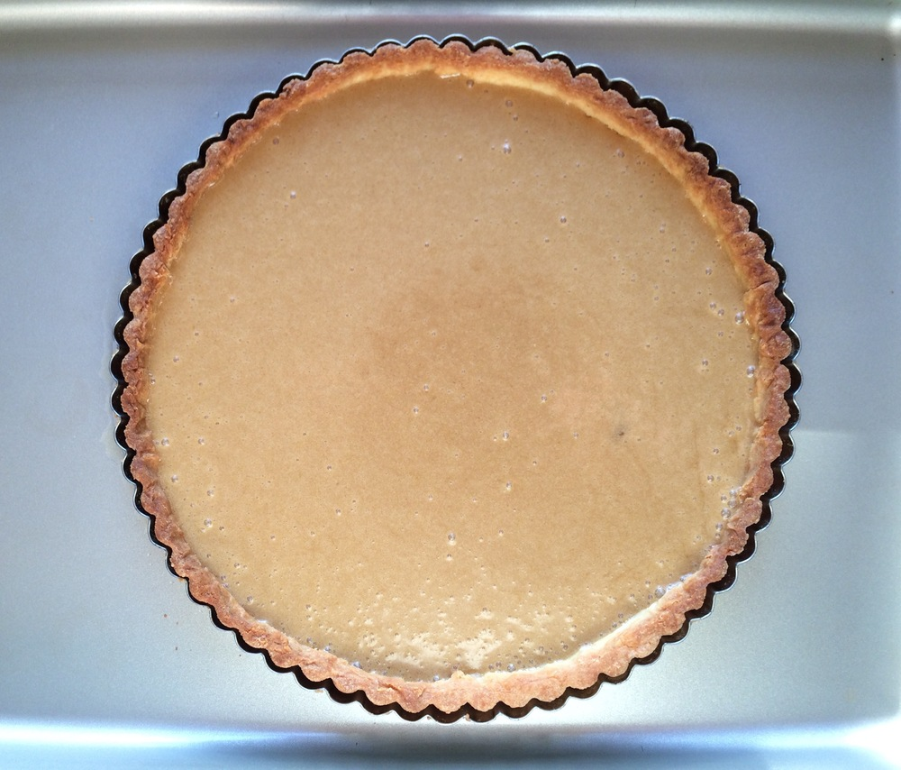 Mixture in tart shell