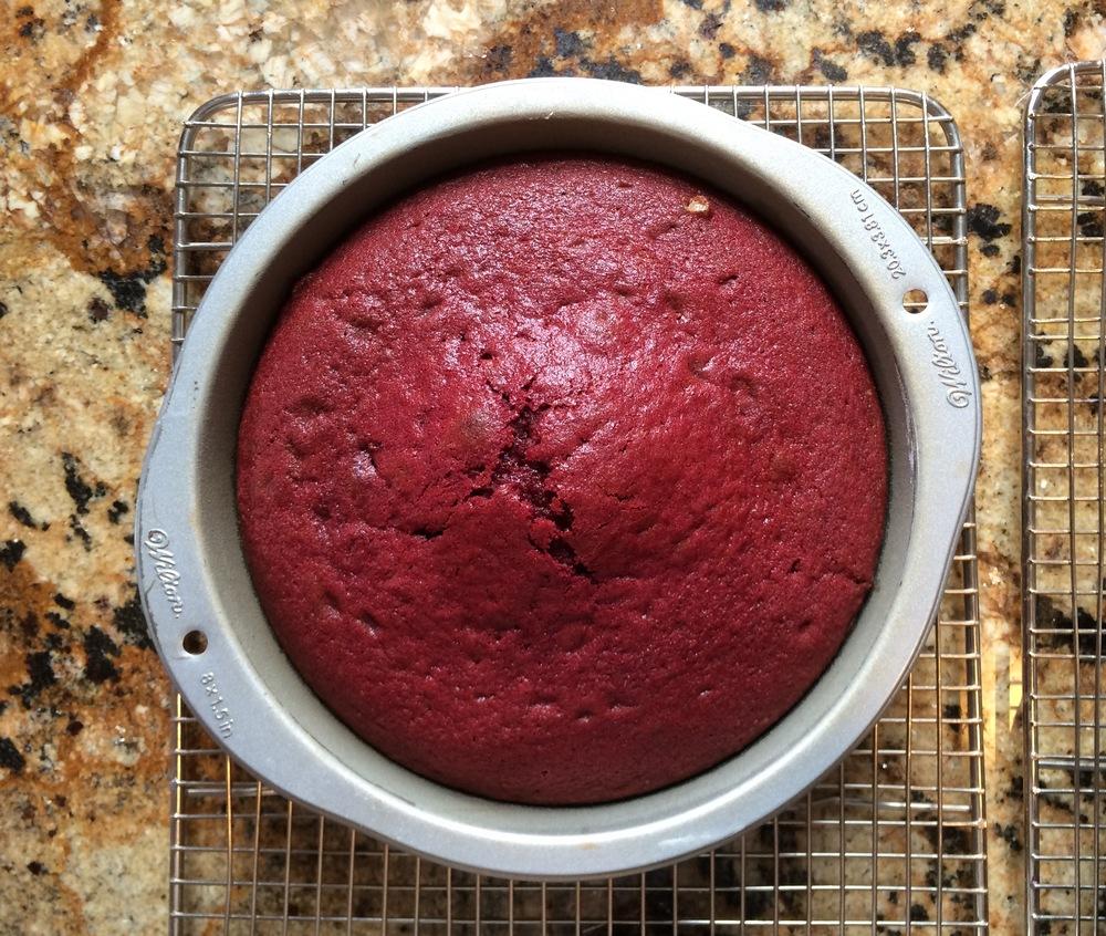 Baked layer red velvet