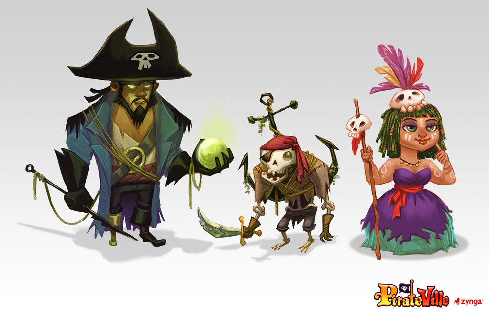 Character Designs    Client: Zynga Role: Art Lead