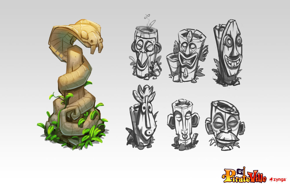 Environment Designs    Client: Zynga Role: Art Lead