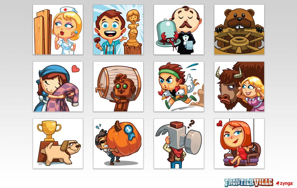 News-feed Illustrations    Client: Zynga Role: Senior Artist