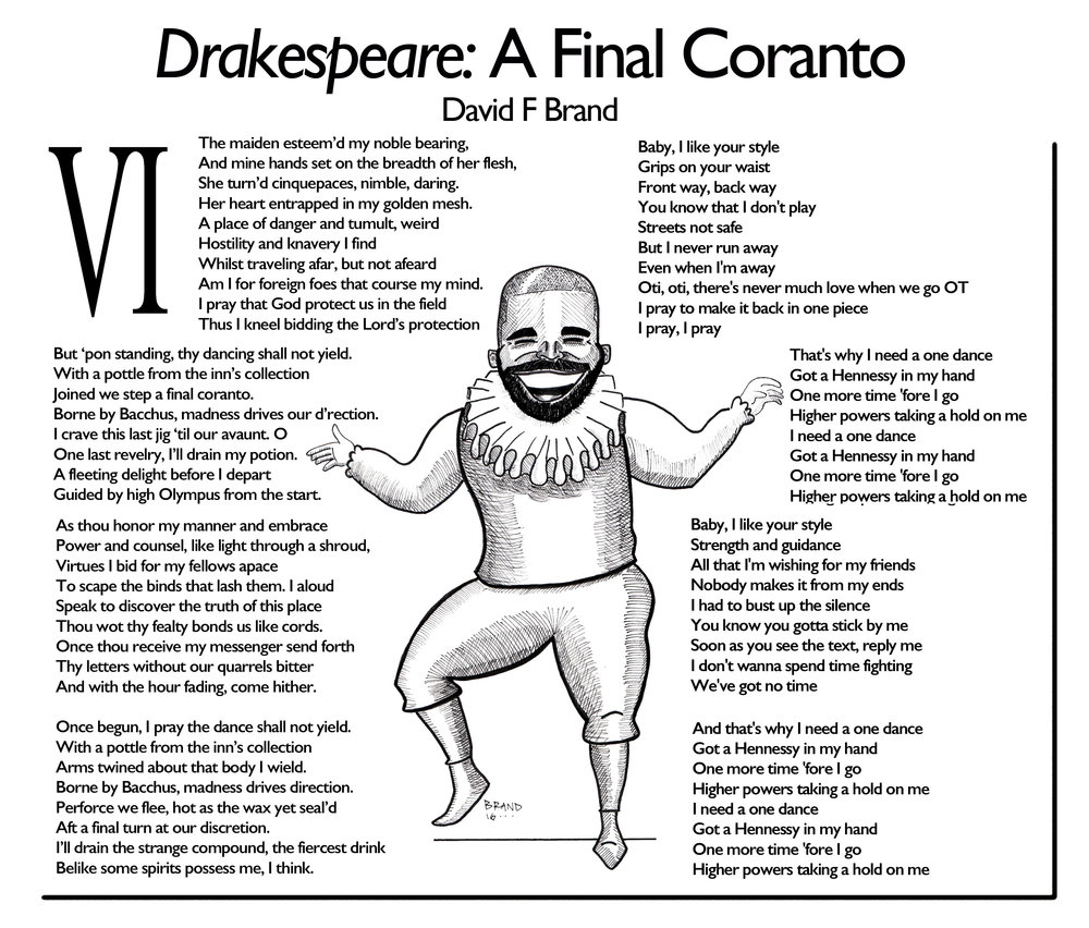 Drakespeare - A Final Coranto. Each word appears in Shakespeare's works.