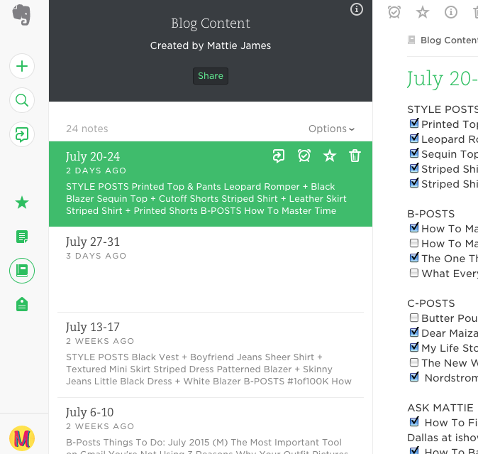 How To Use Evernote As A Blogger