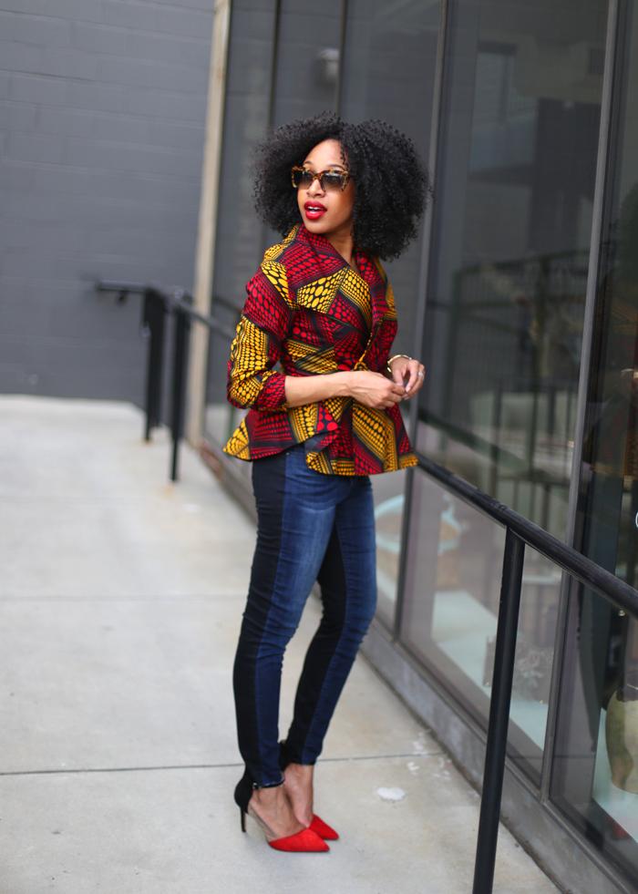 Peplum Jacket + Skinny Jeans