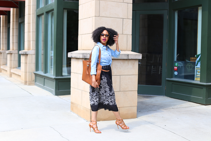 Chambray Top + Dress As A Skirt