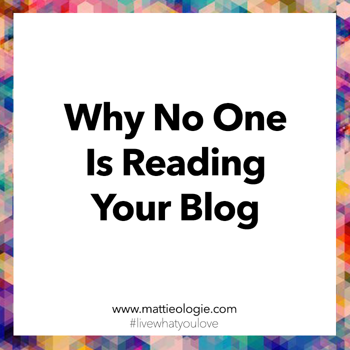 Why No One Is Reading Your Blog