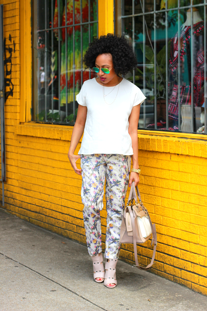Printed Pants + Backless Top