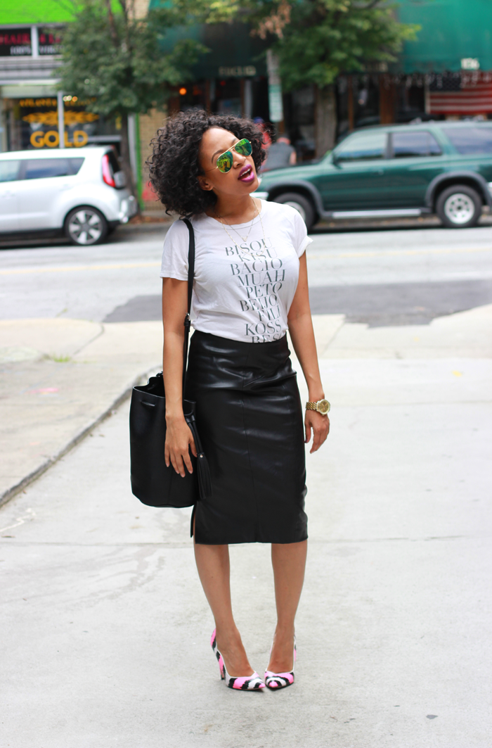 t shirt with pencil skirt dress ala