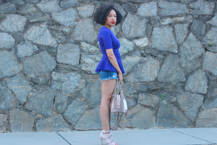 Peplum Top + Cutoff Shorts