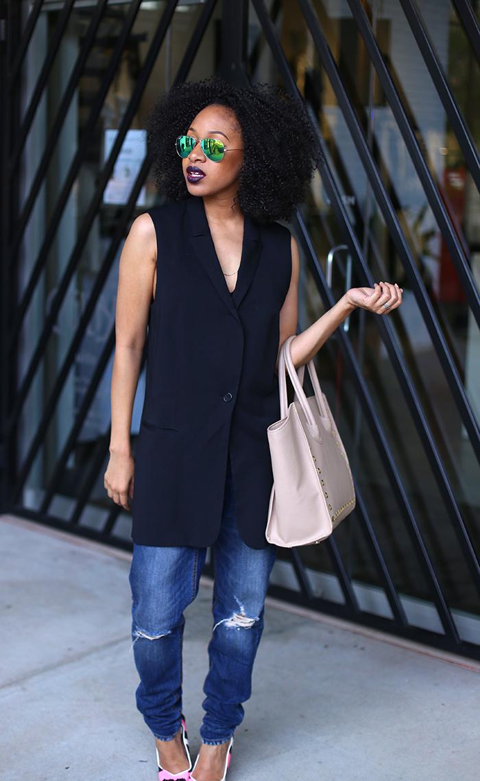Mattieologie: Oversized Vest + Boyfriend Jeans