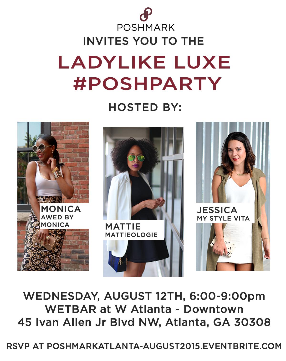 I'm Co-Hosting @Poshmark's Atlanta #POSHPARTY