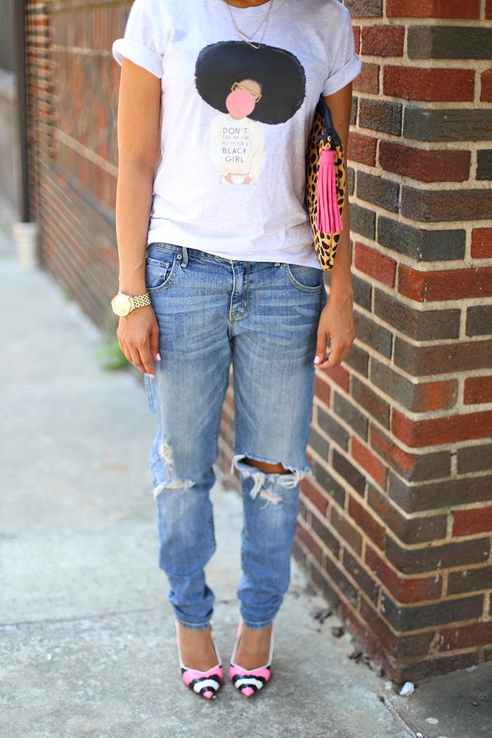 Graphic Tee + Boyfriend Jeans