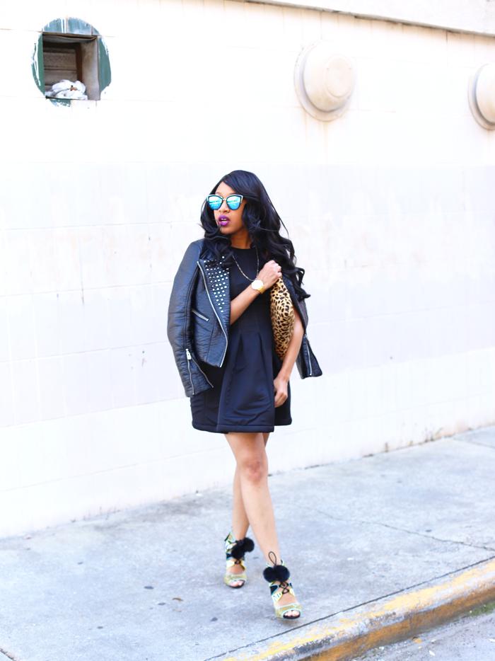 Mattieologie: Moto Jacket + Little Black Dress