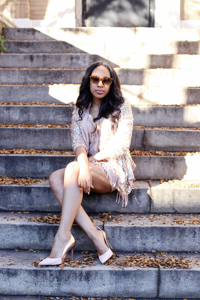 Sequin Jacket + Fringe Skirt | Mattieologie