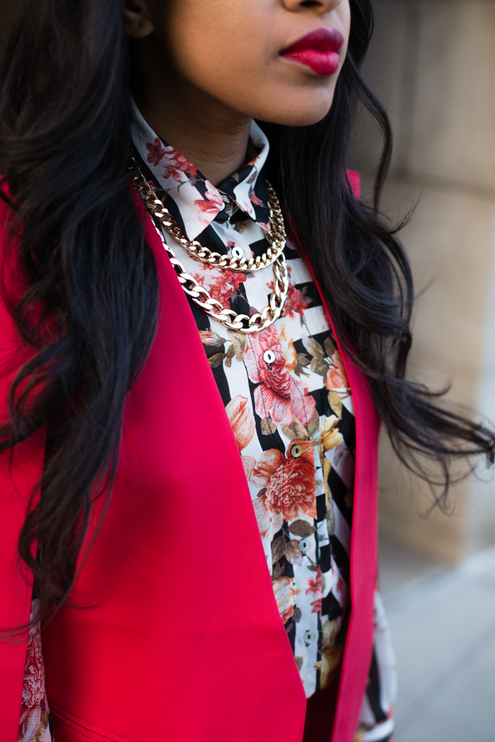 Red Suit & Printed Shirt | Mattieologie